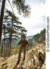 Hike in Crimea - men in hike