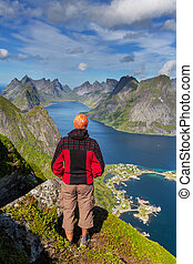 Hike in Lofoten - hike in Lofoten,Norway