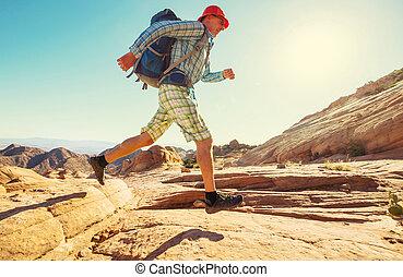 Hike in Utah - Hike in the Utah mountains
