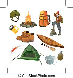 Hike vector icons