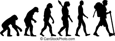 hiker, evolução