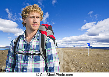 hiker, retrato