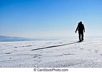 hiker, silueta