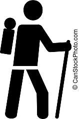 Hiker symbol