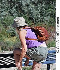 Hiker taking a break.