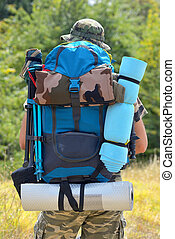 Hiker with a backpack