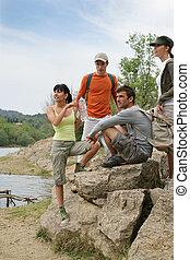 hikers, groep