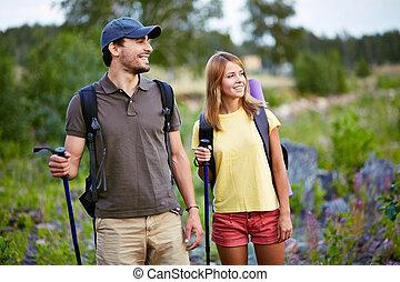 hikers, jonge