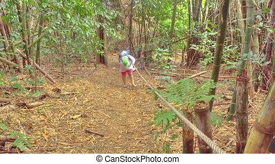 Hiking at the deep jungle of Similan Islands