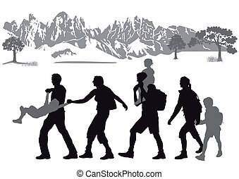 hiking bambini