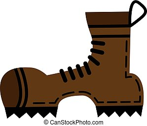 Hiking Boots Clip Art Vector And Illustration 3 578 Hiking Boots