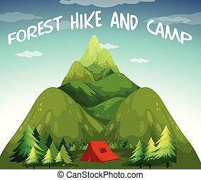 Hiking campsite
