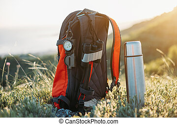 hiking, equipment.