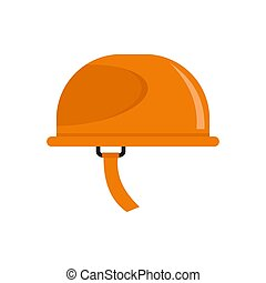 Hiking helmet icon, flat style