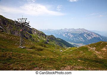 Hiking in swiss alps