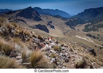 Hiking Iztaccihuatl Volcano in Mexico - Iztaccihuatl is a...