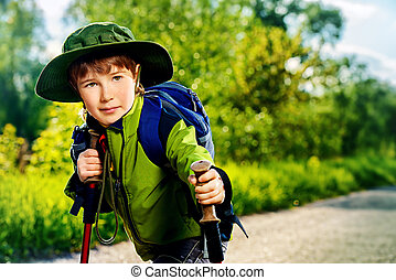 hiking kid