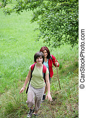 hiking, mulheres