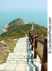 Hiking path in Hong Kong