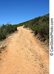 Hiking Path on table Mountain, South Africa