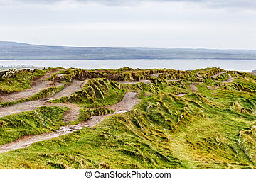 Hiking paths - Photo of many hiking paths at the ocean...