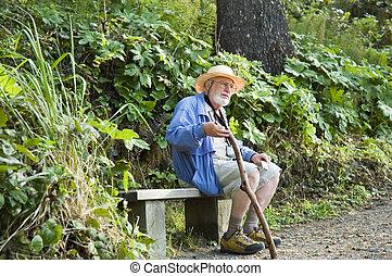 hiking senior