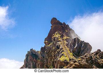 Hiking tail passge - rock stairs