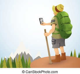 Hiking Tourism - Photographing the beauty of the landscape...
