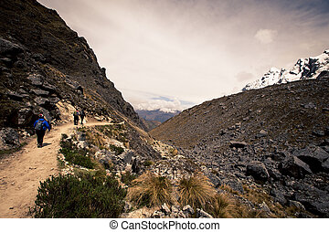 hiking trail in the mountains of Peru