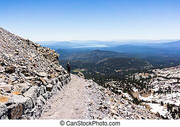 Hiking trail to Lassen Peak; Lassen Volcanic National Park; ...