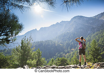 Hiking up
