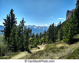 Hiking views from Mount John Laurie, Yamnuska
