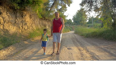 Hiking with grandfather