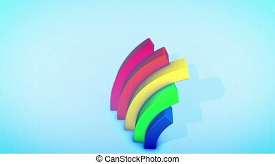"""""""Hilarious Rainbow Arches in Blue Backdrop"""" - """"A cheery 3d ..."""