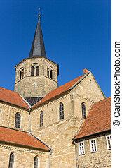 hildesheim, 時計, godehard, st. 。, 教会, タワー