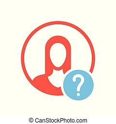 hilfe, info, leute, symbol, frage, wie, avatar, zu, ikone, frage, mark., ikone