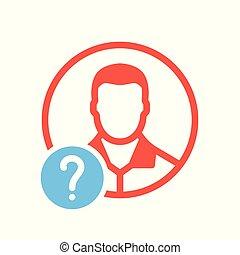 hilfe, info, symbol, frage, wie, avatar, zu, sozial, ikone, frage, mark., ikone