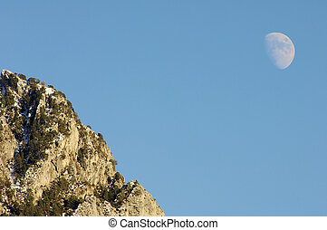 Hill and moon