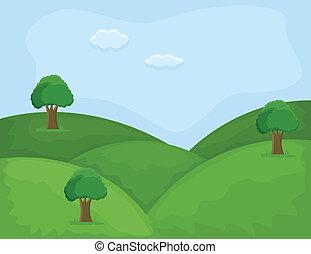 Hill Area - Cartoon Landscape