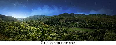 Hill in Sumba island at night, Indonesia