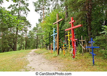 Hill of crosses in Grabarka town