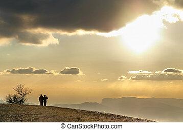hill., pareja