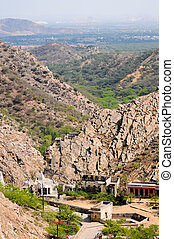 Hill side view in Jaipur