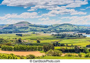 Hill view farm rural area