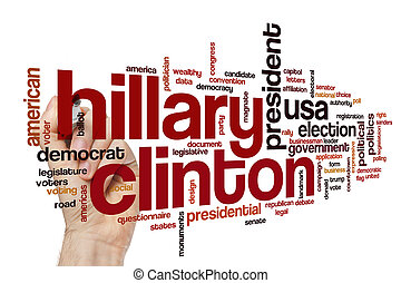 Hillary Clinton word cloud concept
