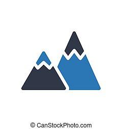 hills glyph color icon