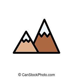 hills  glyph flat icon