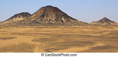 Hills in Black desert