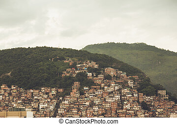 Hills in Rio crowded with houses