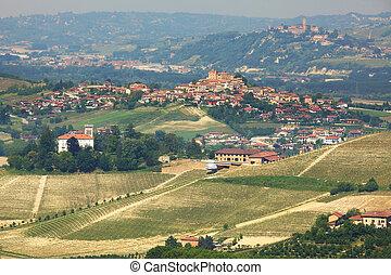 Hills of Langhe in Piedmont, northern Italy.